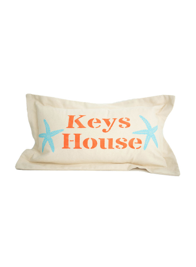 Low Country Linen - Keys House Lumbar Pillow 12 x 22