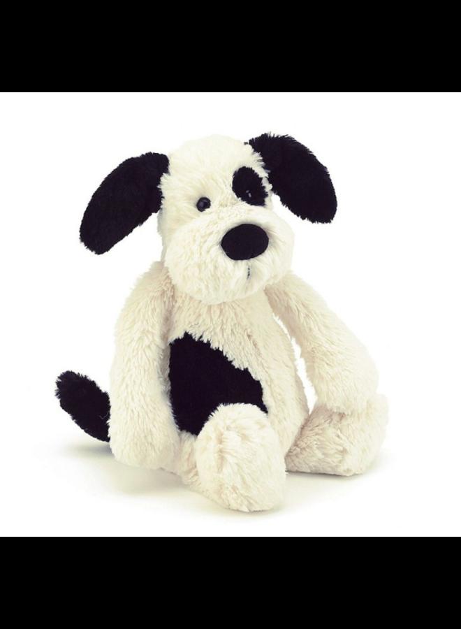 Jellycat - Bashful Black & Cream Puppy Small