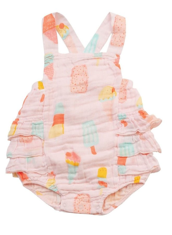 Muslin Ruffle Sunsuit - Cool Sweets by Angel Dear