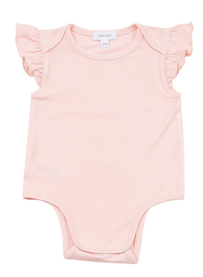 Ruffle Sleeve Onesie - Pink by Angel Dear