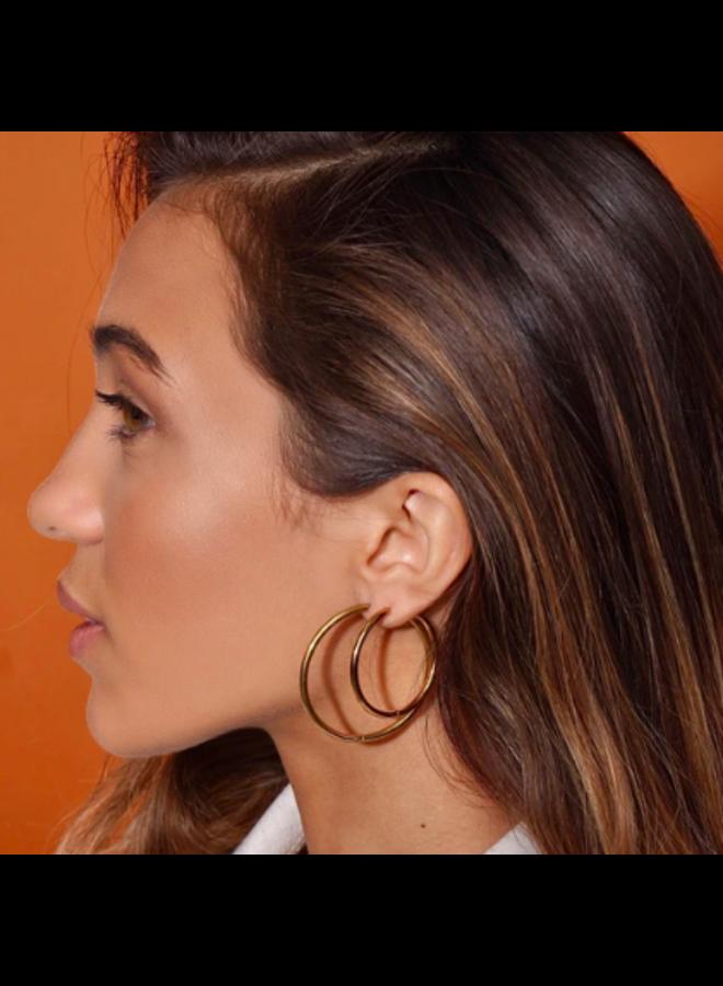 Large Hoop Earrings - Klara by Ellie Vail