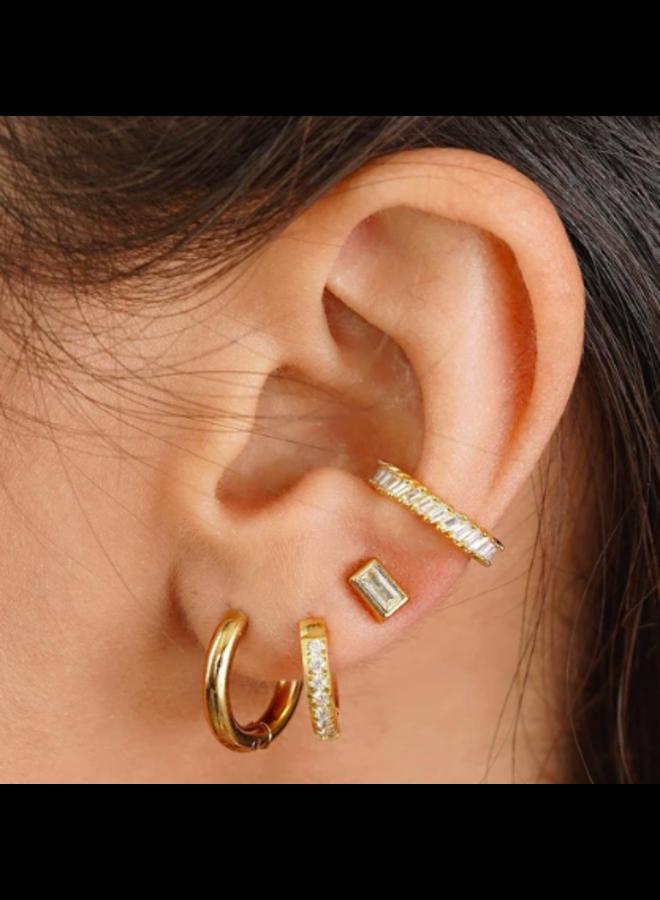 Small Hoop Earrings - Erin by Ellie Vail