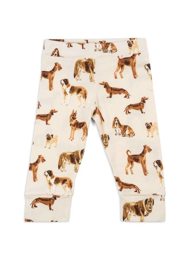 Organic Cotton Baby Leggings - Natural Dog