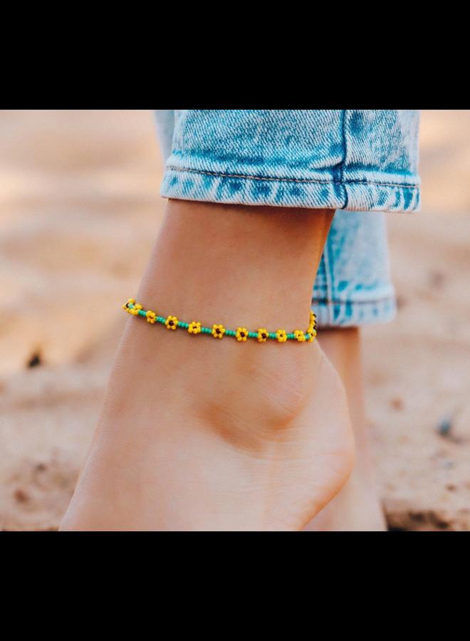Pura Vida -  Sunflower Seed Bead Anklet