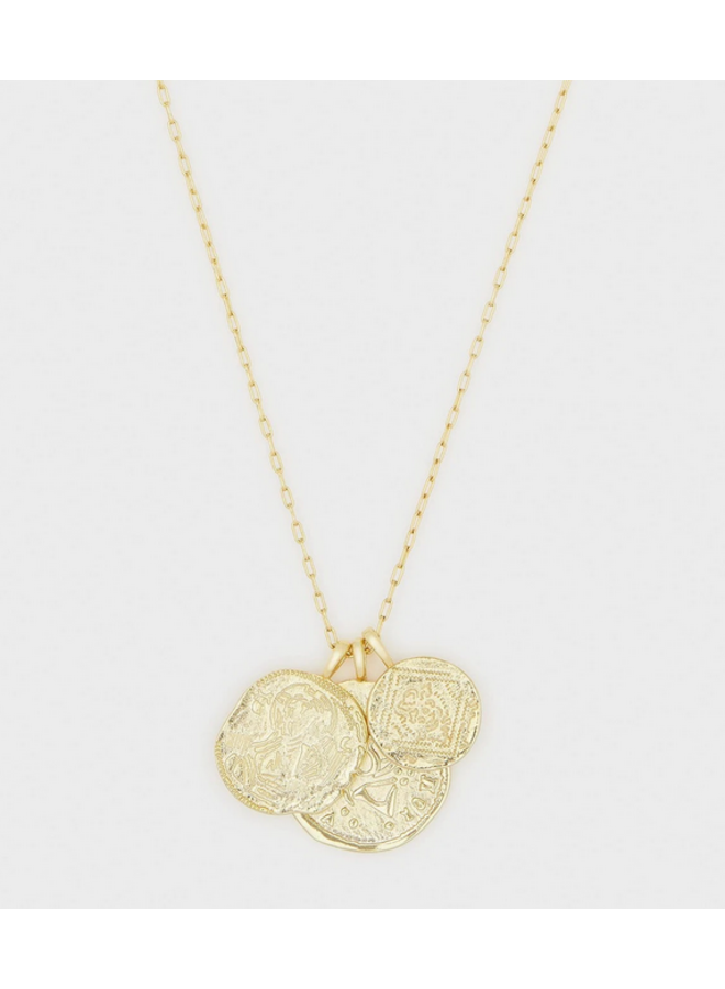 Ana Coin Pendant Gold Necklace - by Gorjana
