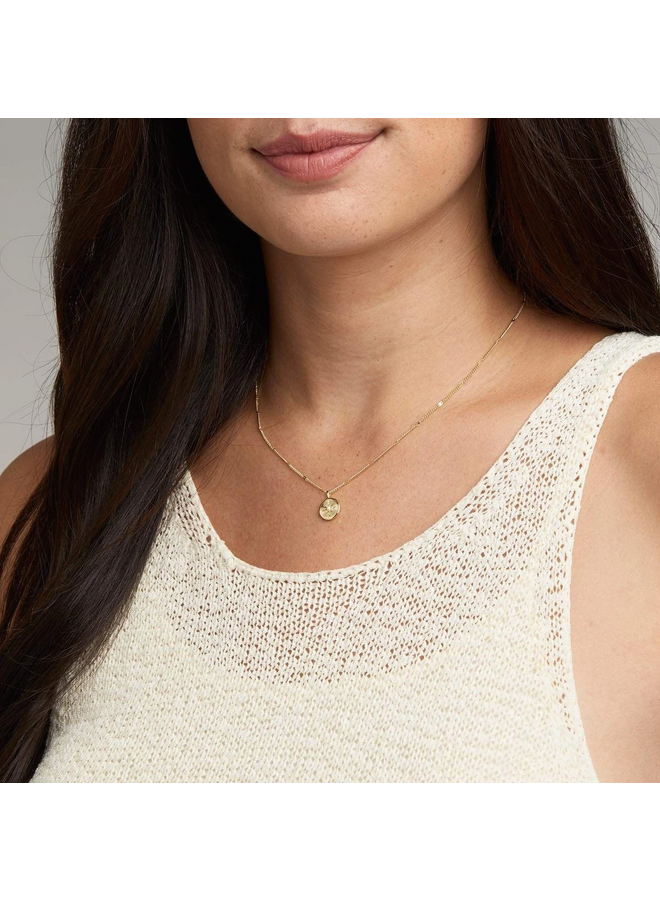 Power Birthstone Pearl (June) Gold Necklace - by Gorjana