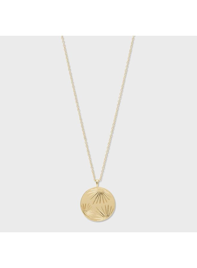 Azul Coin Pendant Gold Necklace - by Gorjana