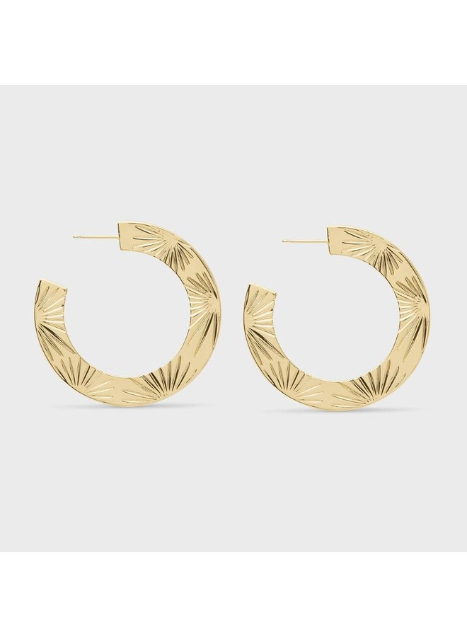 Azul Hoop Earrings - Gold - By Gorjana