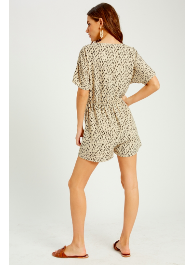 Loose Romper Cream with Black Spots by Wishlist