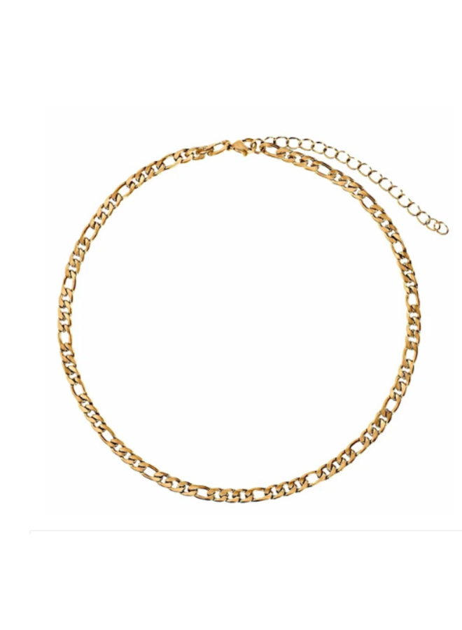 Gold Link Chain Choker Necklace - Zara Necklace by Ellie Vail