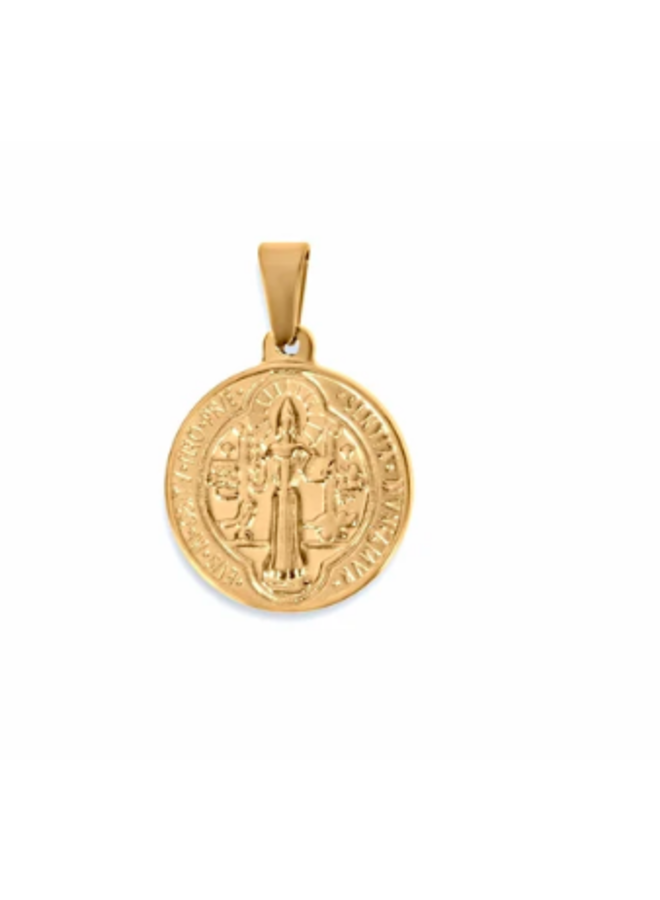 Saint Coin Gold Pendant by Ellie Vail