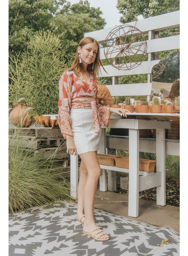 Off White Modern Femme Skirt - by Free People