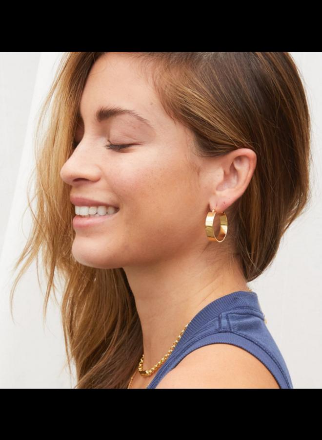 Shimmer Small Jax Hoop Earrings - Gold - By Gorjana