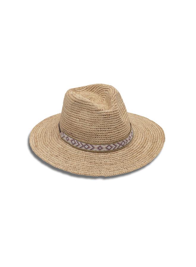 Hailey Straw Hat w/ Beaded Band
