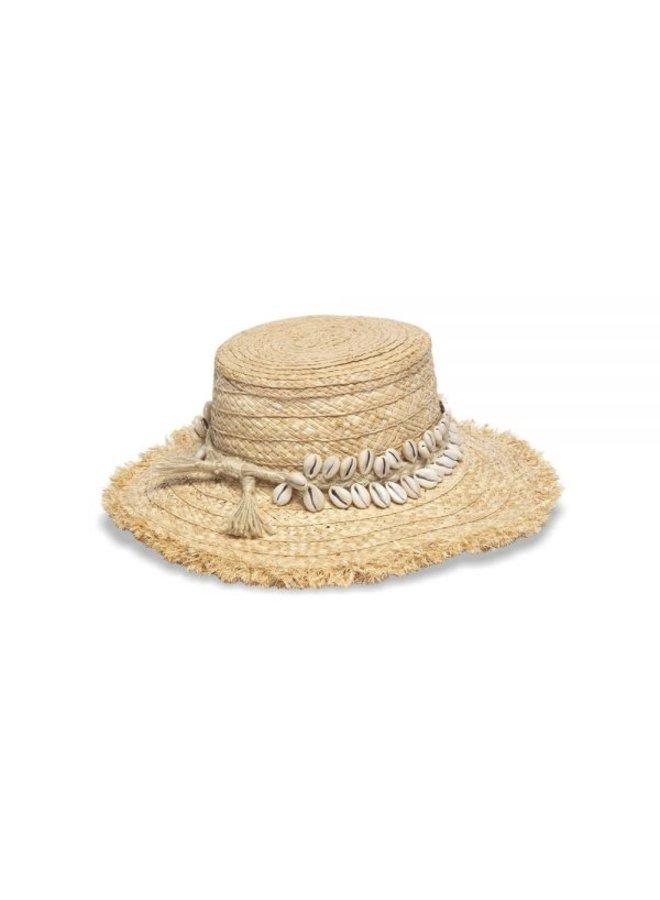 Boheme Straw Hat w/ Cowrie Shell - Nikki Beach