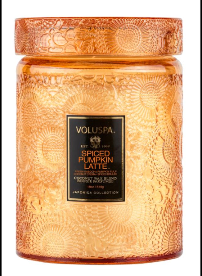Large Glass Jar Candle - Spiced Pumpkin