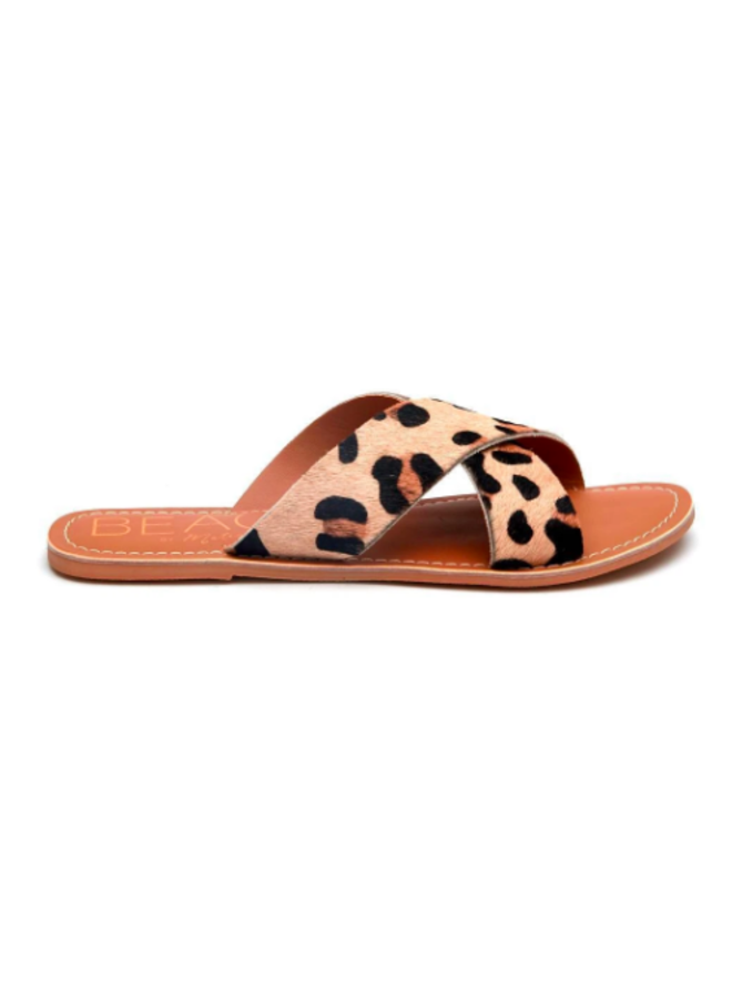 Leopard Criss Cross Sandals