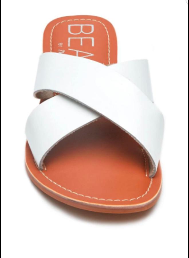 White Criss Cross Sandal