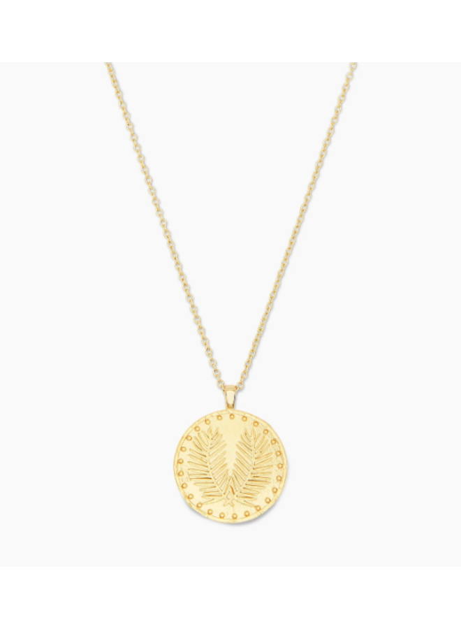 Palm Coin Necklace - by Gorjana - Gold