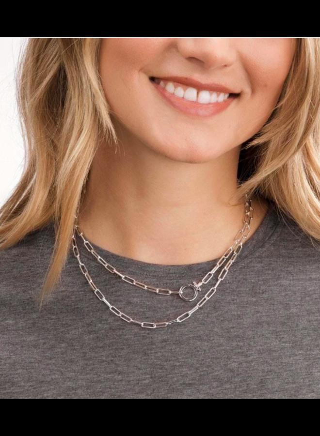 Parker Wrap Necklace - By Gorjana Silver