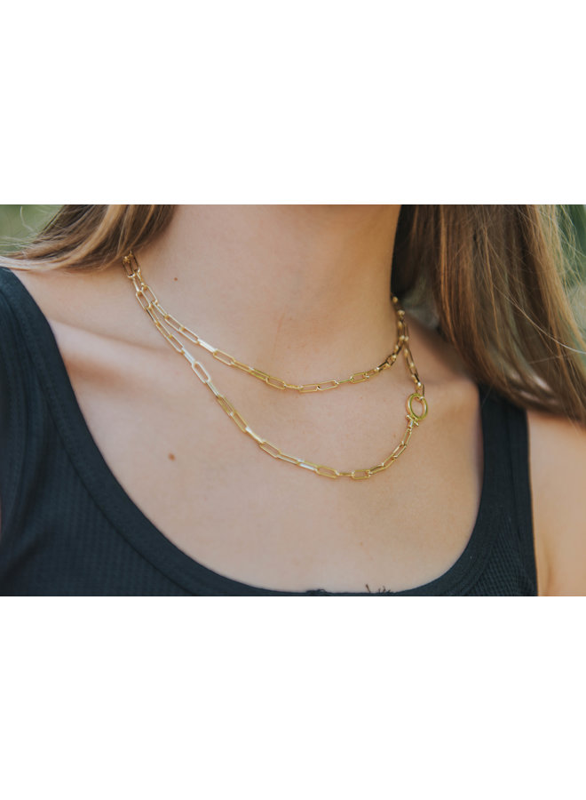 Parker Wrap Necklace - By Gorjana -  Gold