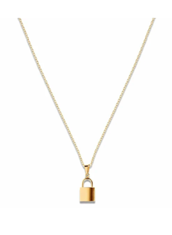 Gold Oval Link Necklace - Carla Necklace by Ellie Vail