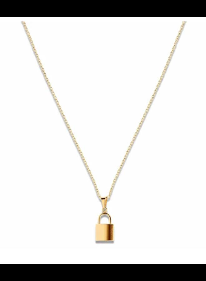 Uma Lock Necklace -  by Ellie Vail