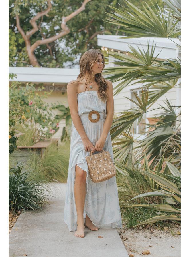 Palmera Tube Maxi Dress w/ Belt by Skemo - Ocean
