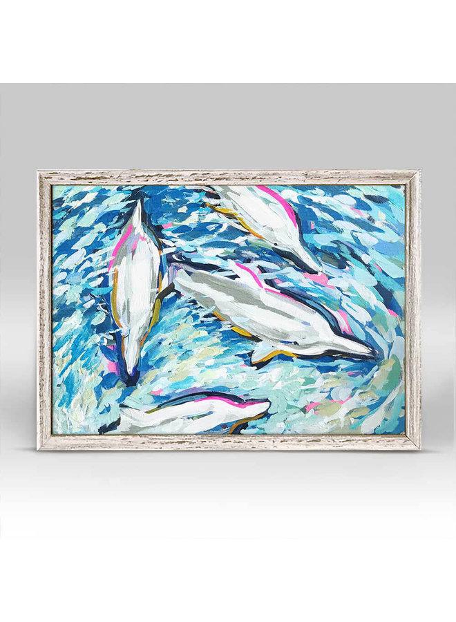 Dancing Dolphins 7x5 Mini Wall Art