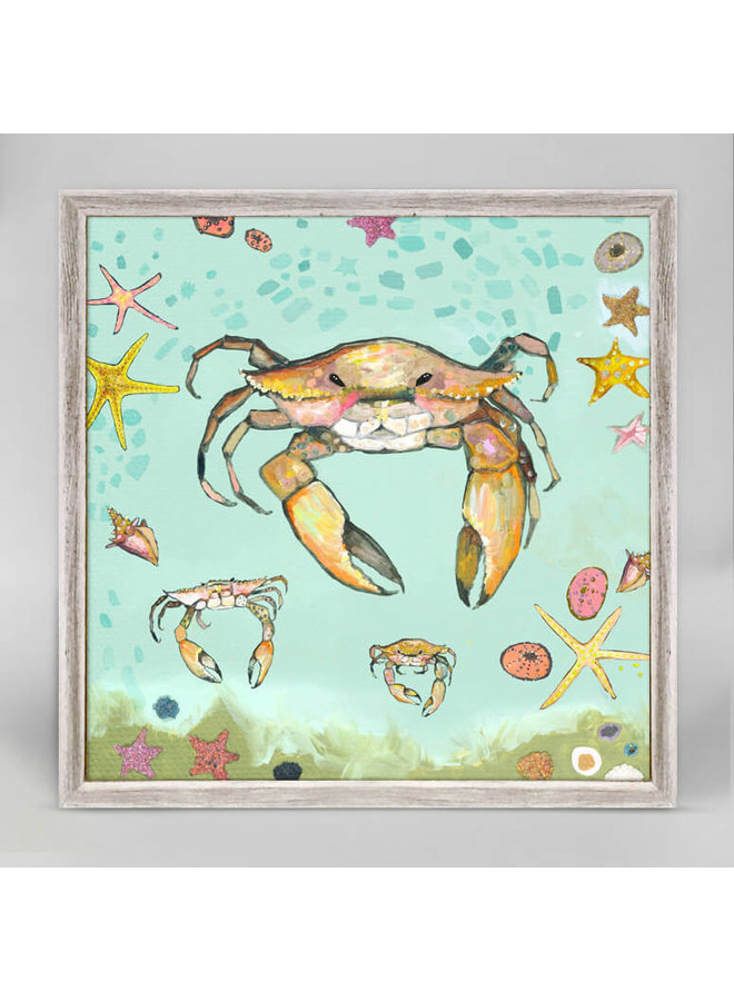 Crabs Trio 6x6 Rustic Mini Wall Art