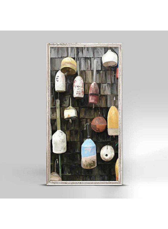 Coastal Buoys - Mini Framed 5x10 Canvas
