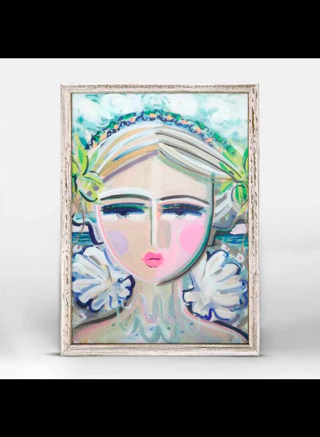 She Is Fierce - 5x7 Ocean Canvas Wall Art