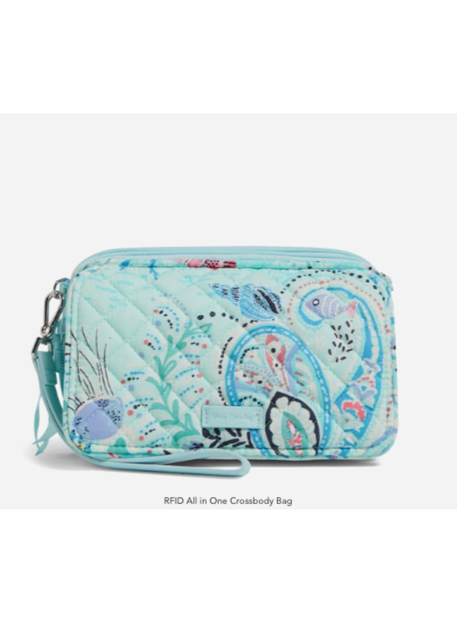 All In One Crossbody Purse RIFD - Paisley Wave by Vera Bradley