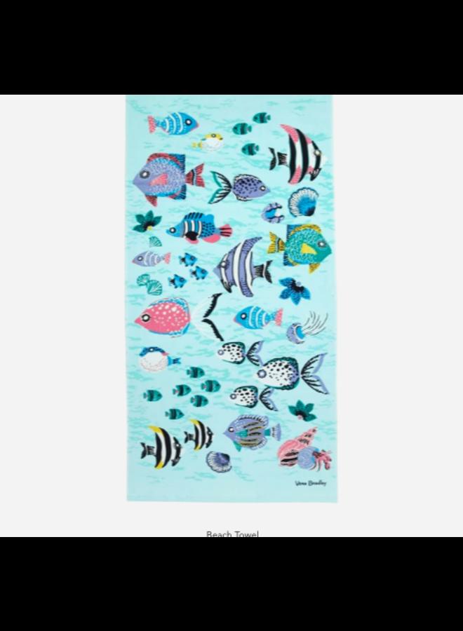 Paisley Wave Fish - Beach Towel by Vera Bradley