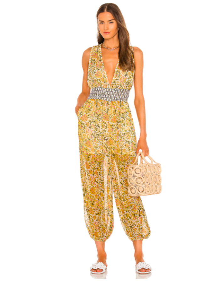 Marias Jumpsuit by Free People - Yellow Floral