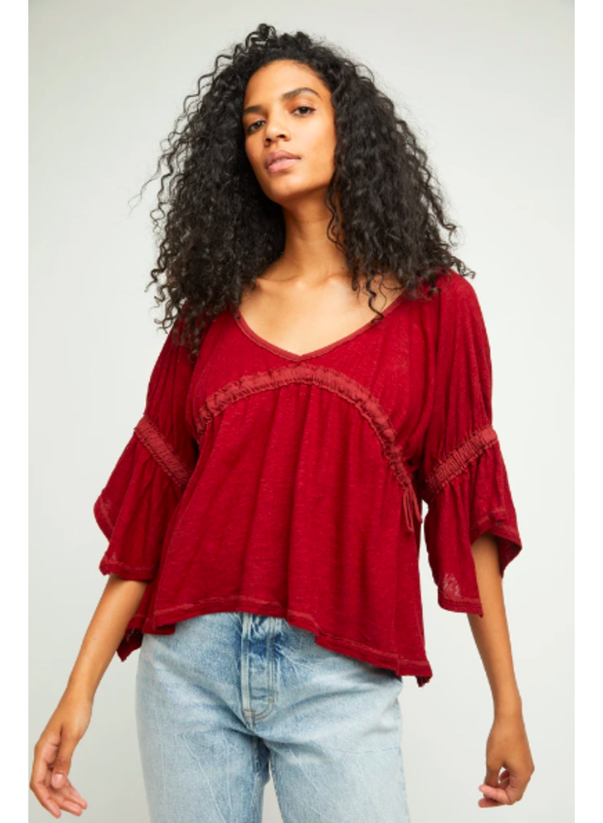 Sand Storm Top - Free People - Sanguine Red