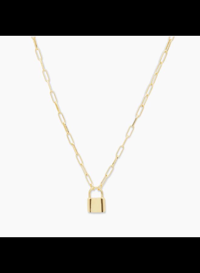 Kara Padlock Charm Necklace