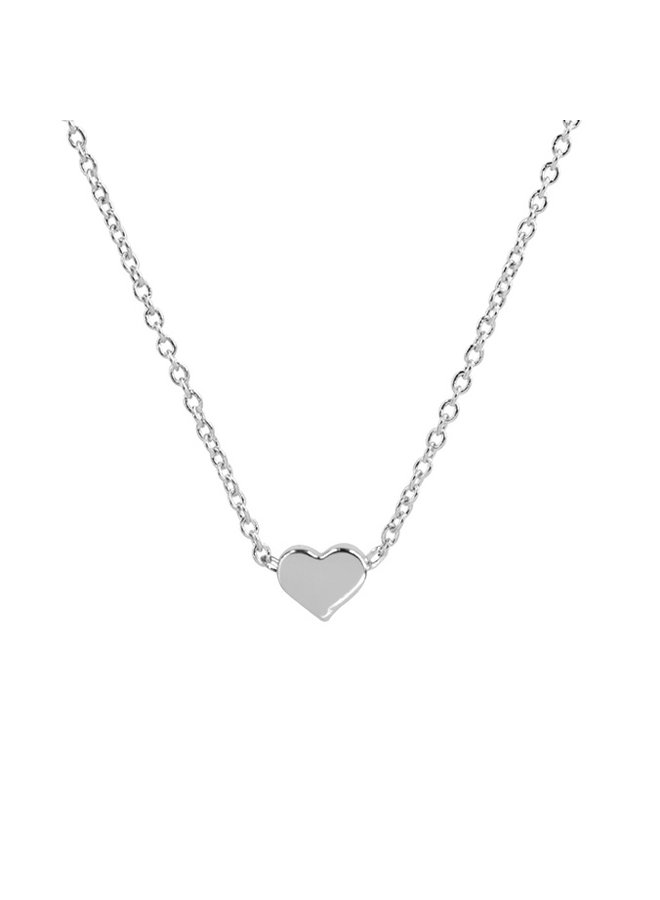 Dainty Heart Necklace - Silver Gold Dipped (Secret Box)