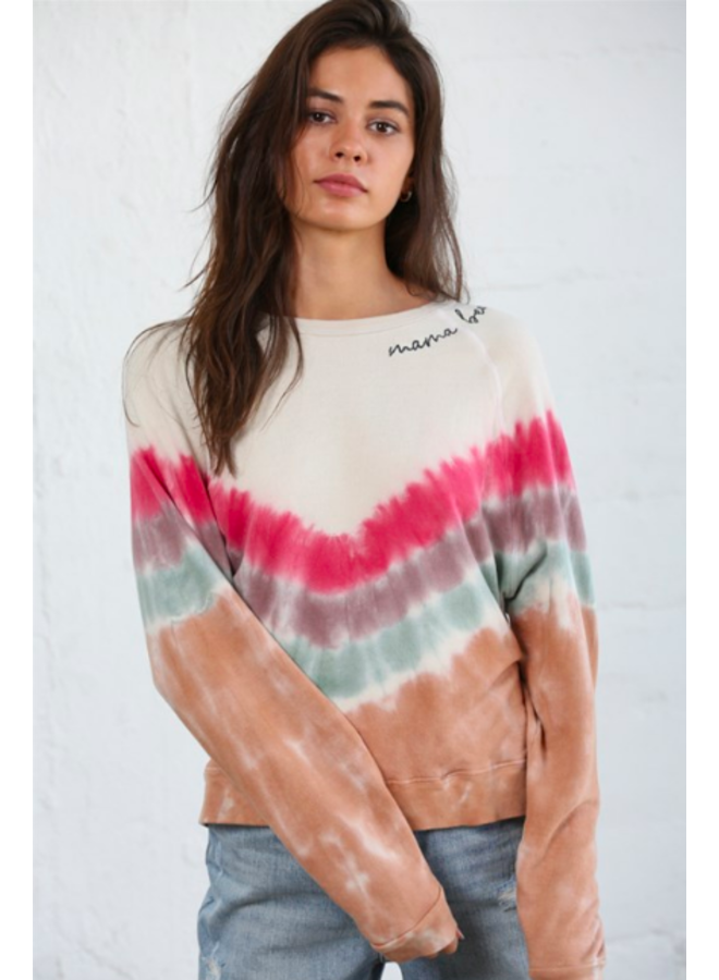 Tie Dye Sweatshirt  w/ Mama Bear Embroidery - By Together
