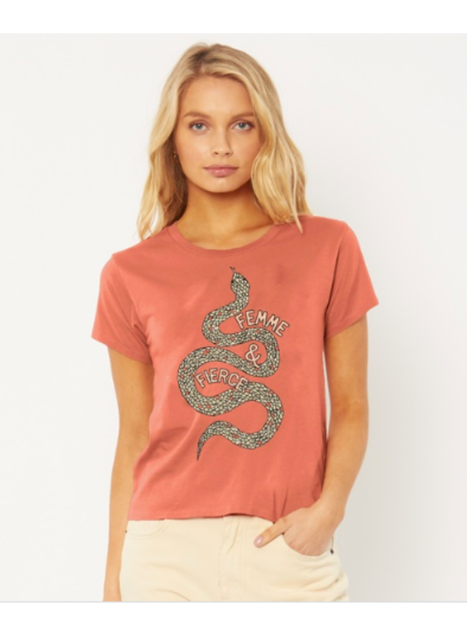 Femme & Fierce Tee by Amuse Society - Rose