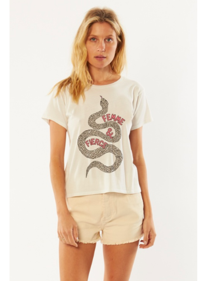 Femme & Fierce Tee by Amuse Society - White
