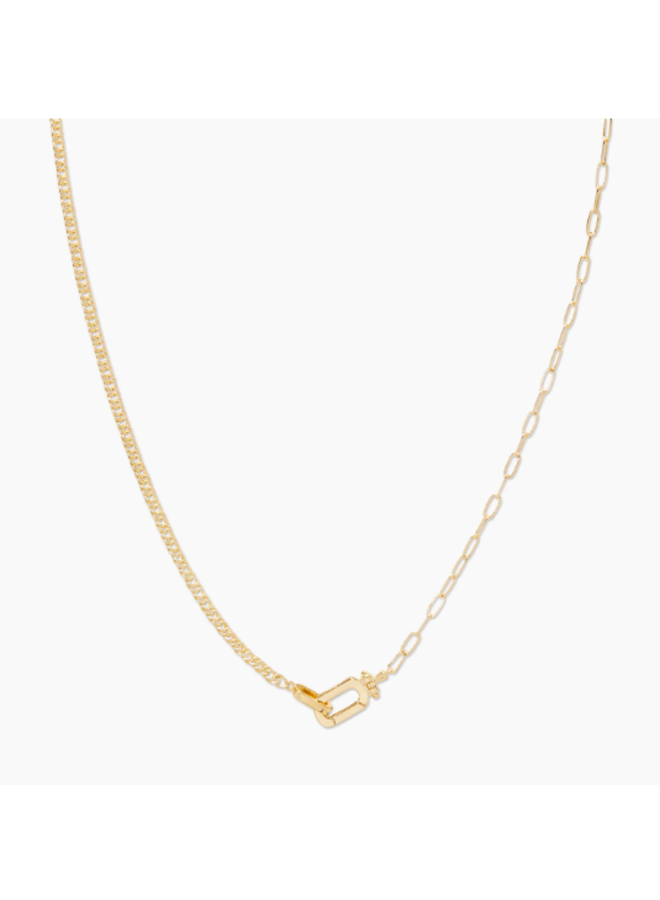 Dylan Link Necklace - Duo Chain by Gorjana