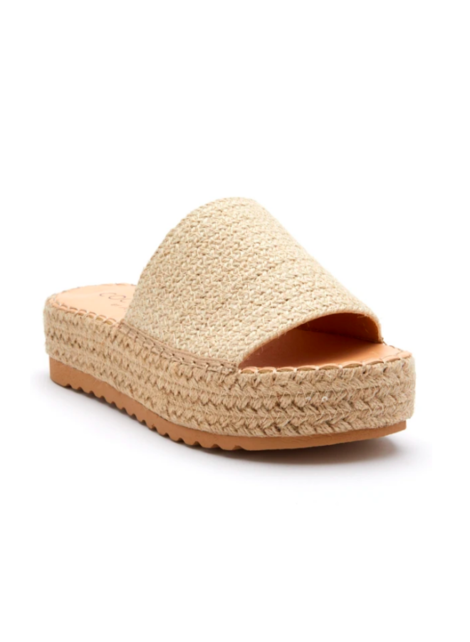 Braided Straw Flatform Straw Slide Sandals - Del Mar