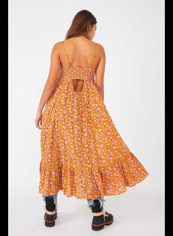 Molly Jo Midi Dress - Mustard Floral by Free People
