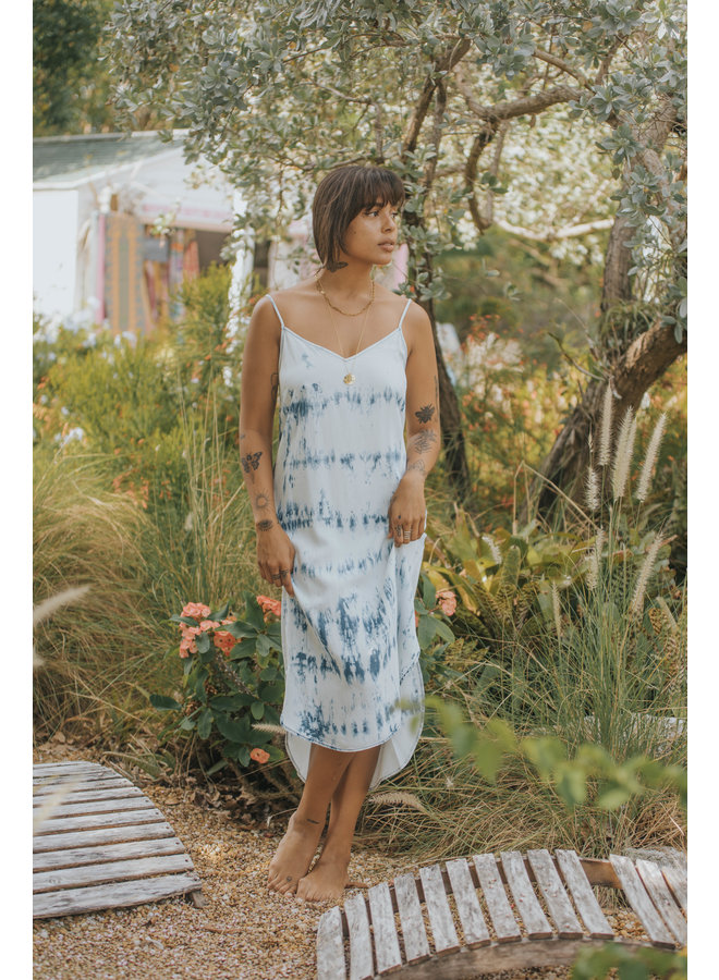 Merlyn Tie Dye Slip Dress  by Velvet Heart - Denim Tie Dye