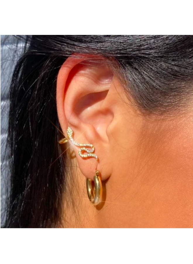 Small Thick Hoop Earrings - Shay by Ellie Vail