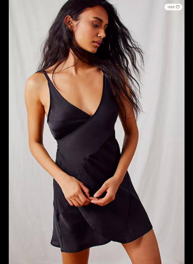 Like Me Or Love Me Slip Dress by Free People - Black
