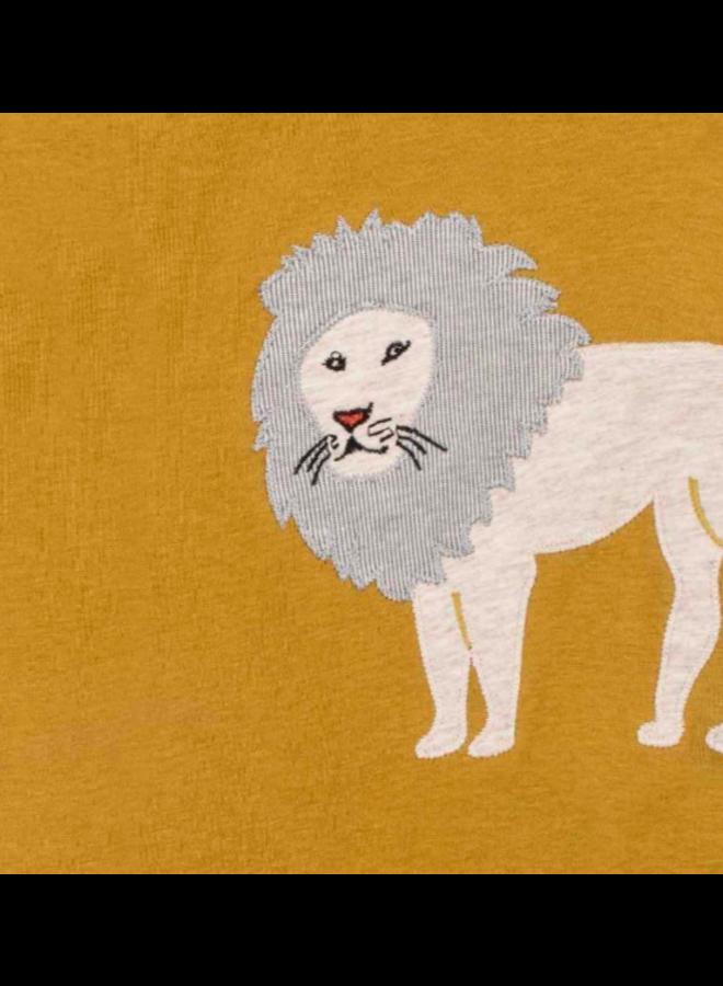 Organic Cotton Applique Onesie - Lion