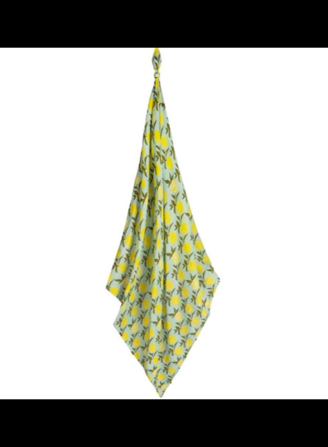 Organic Cotton Lemon Swaddle