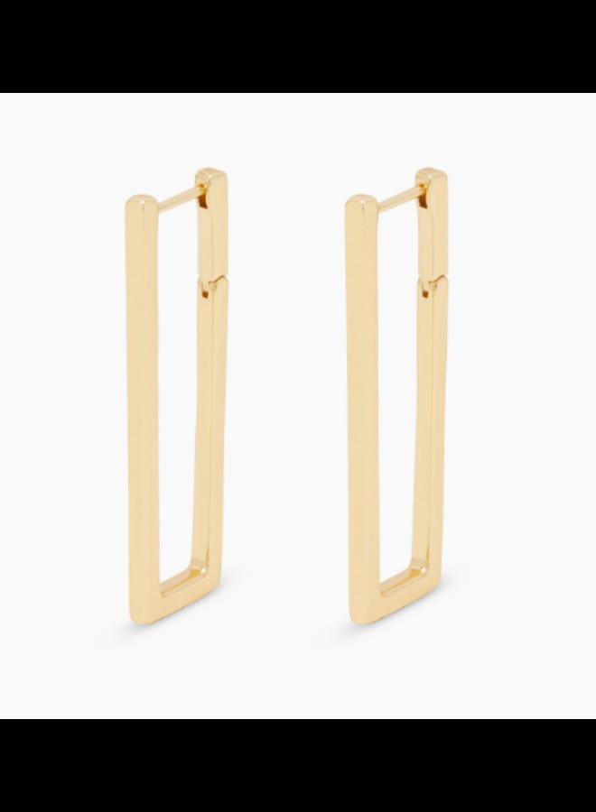 Nico Square Hoop Earrings - Gold by Gorjana